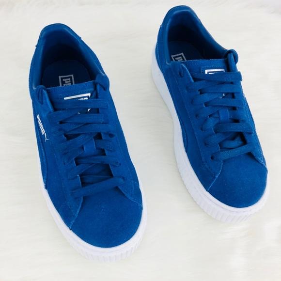 Poshmark Puma ShoesBlue Top Suede Low Sneaker Platform UMzpqSGV